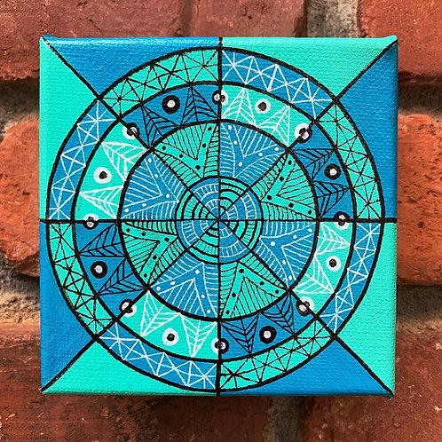 Blue/Teal Mandala