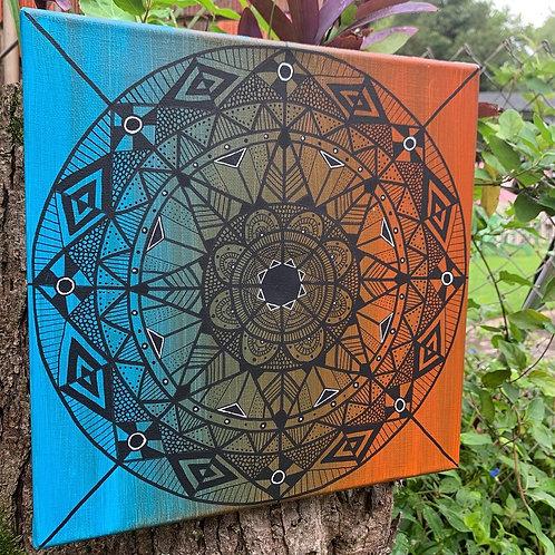 Blue/Orange Mandala