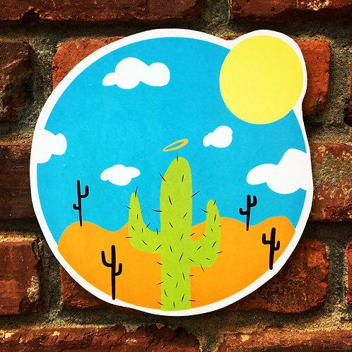 Simple Cacti Woodcut