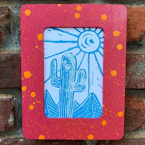 Sunny Cactus Blue/Pink Frame