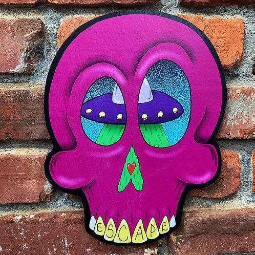 Escape Skull Woodcut