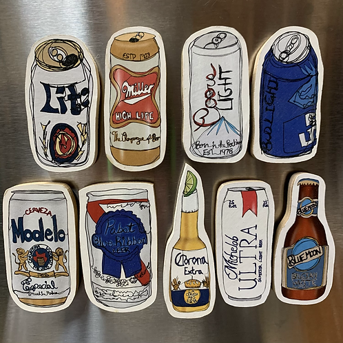 Domestic Beer Magnets