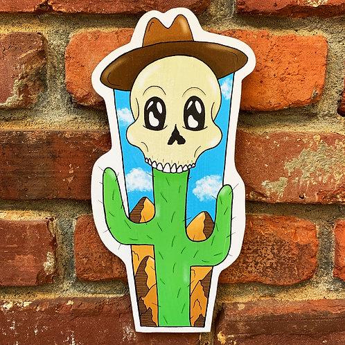 Cactus Jack Woodcut