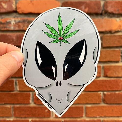 Third Eye Alien Sticker