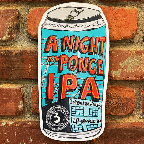Night on Ponce IPA Woodcut