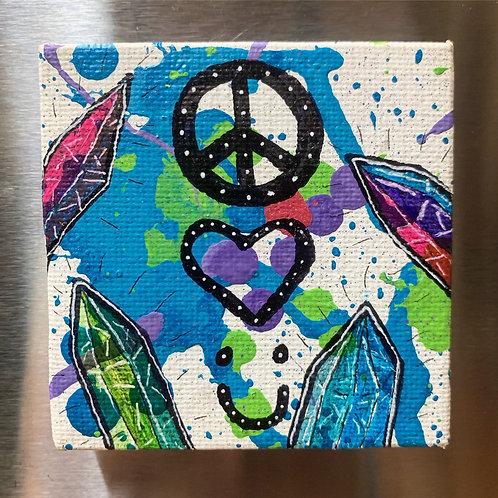 Peace, Love, Smile Magnet