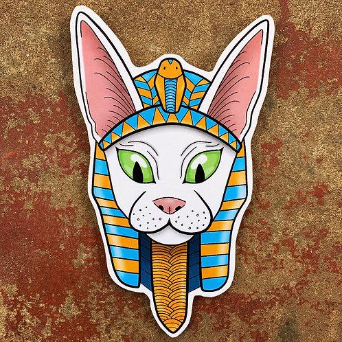 Egyptian Cat Woodcut