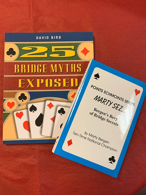"""Book Set- """"25 Bridge Myths Exposed"""" and """"Points Schmoints"""""""
