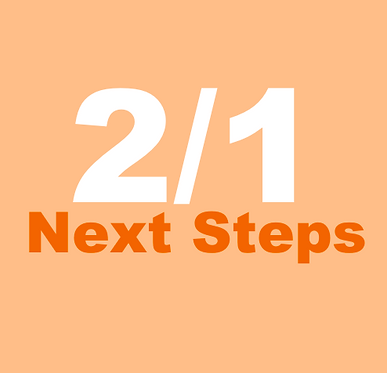 2/1 Next Steps, Part 2  (Dec-Wed at 4:30pm)