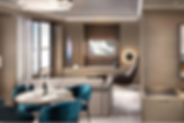 Signature Suite living room and dining a