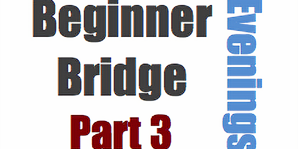 Bridge: Beginner, Part 3 (4 Mondays at 6:30pm)