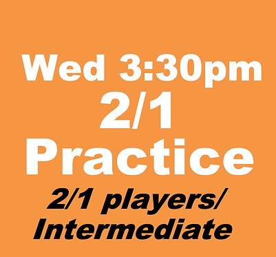 2/1 Practice Group (April-Wed 3:30pm)