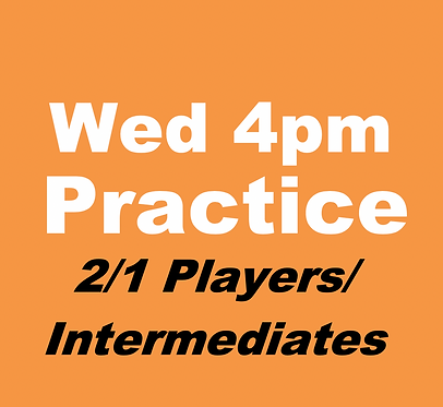 2/1/Intermediates Practice Group (Mar-Wed 4pm)