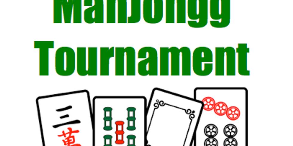 Mahjongg: Tournament Fundraiser for CASH PRIZES &  50/50
