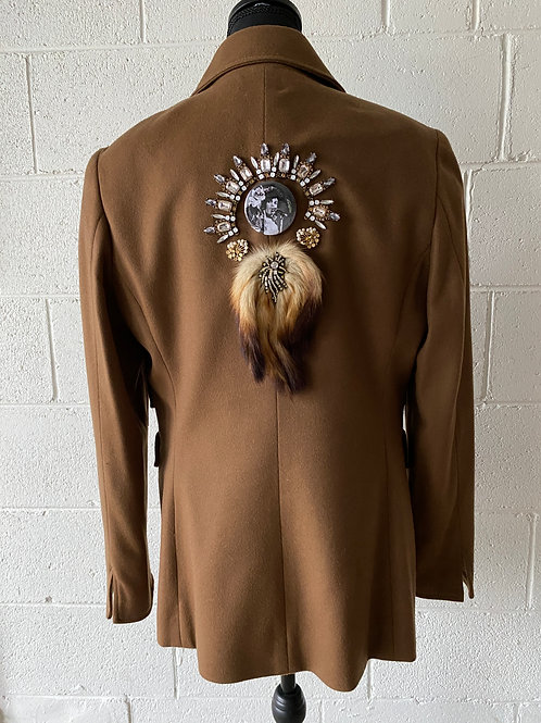 PRINCE. Camel-colored shrine jacket