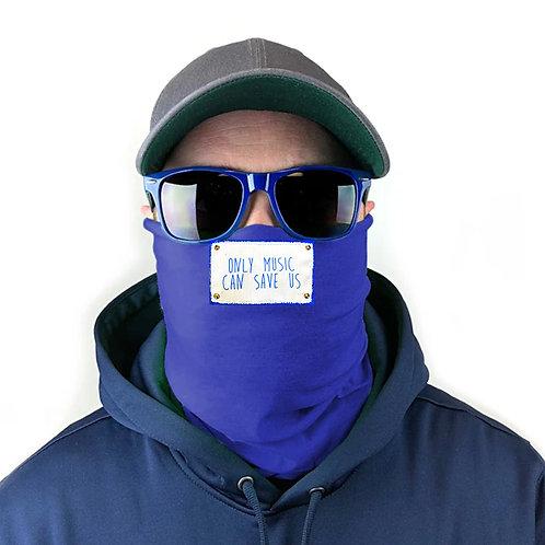 MUSIC SAVES. Gaiter Face Mask