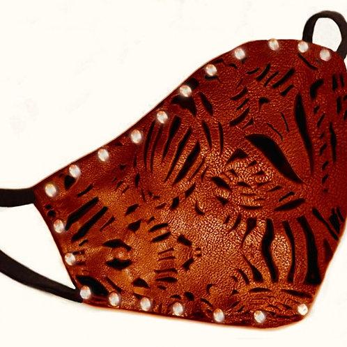 BADASS ORANGE. Cotton and leather