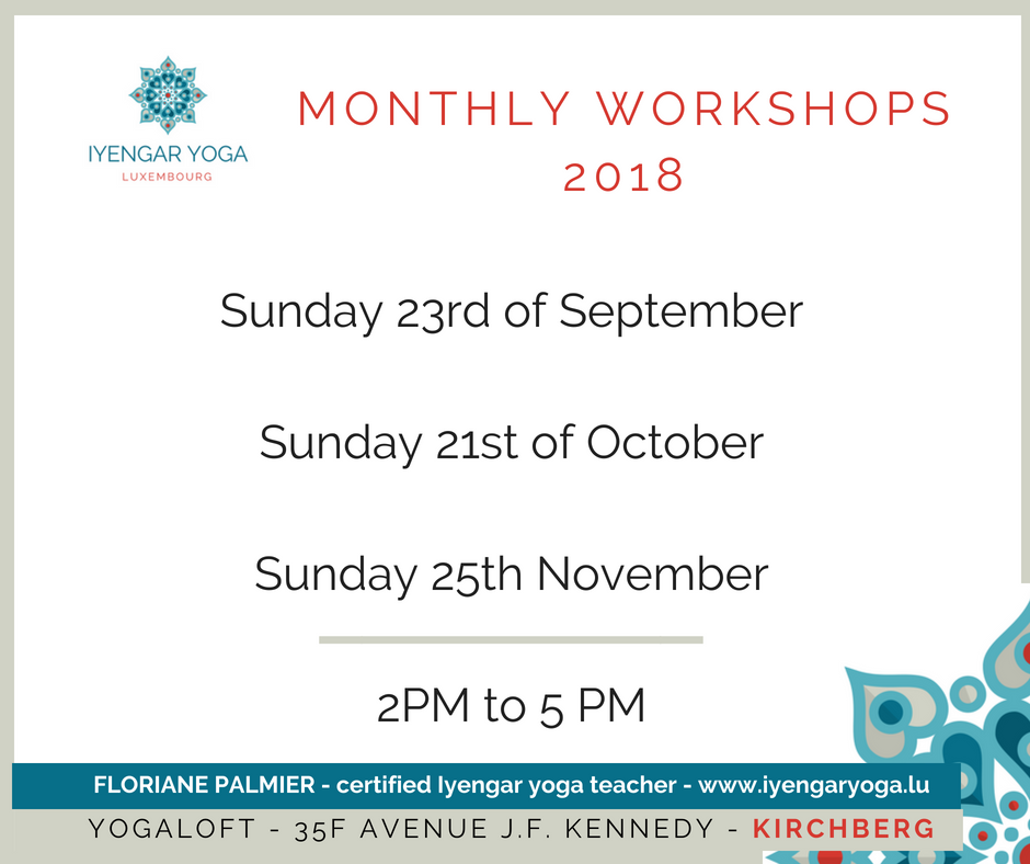 Monthly workshop (fall 2018) Iyengaryoga.lu