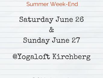 Summer Weekend Yoga Workshop