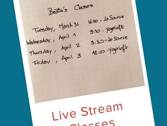 Live stream with Beāta