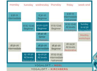 New Schedule / Nouveau planning
