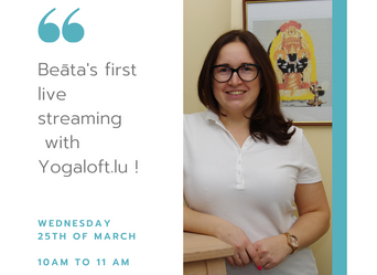 Beāta's live streaming Wed March 25 - 10AM