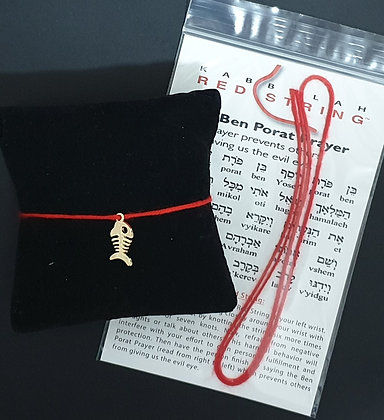 Red string with lucky fish
