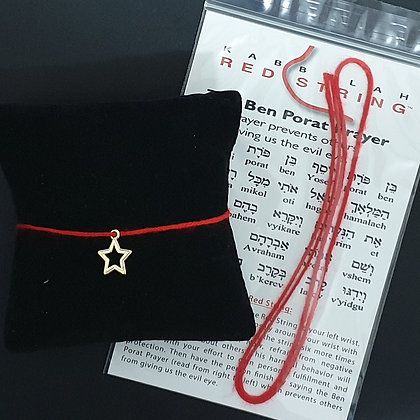 Red string with star