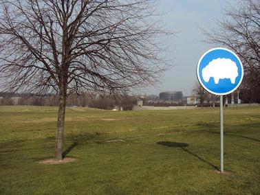Área obrigatória para ovelhas…