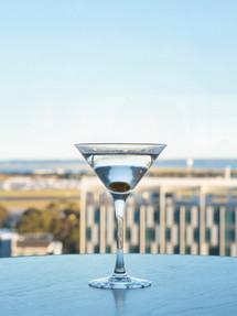 Cocktails overlooking the runways