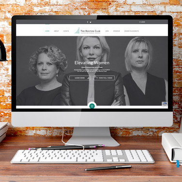 The Boston Club Website Design
