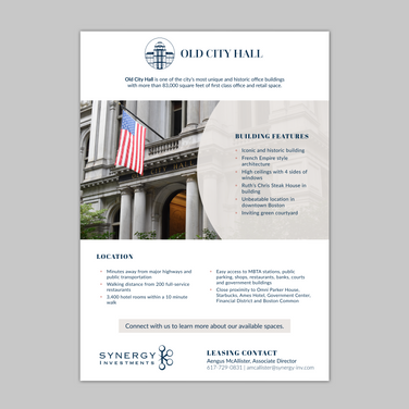 One page brochure/flyer