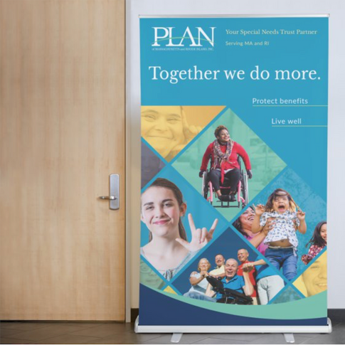 PLAN Stand up Banner