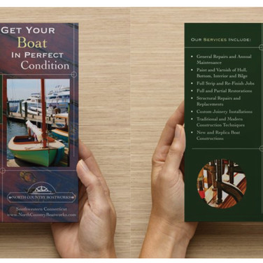 North Country Boat Works Trifold