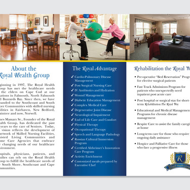 Senior Care Trifold brochure inside