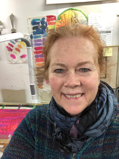Carol Sullivan, Silk Artist and UCA's newest Board Member