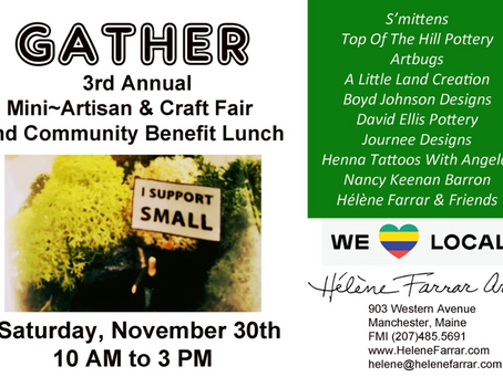 Gather with Helene Farrar Art at the 3rd Annual Artisan & Craft Fair Benefit Lunch