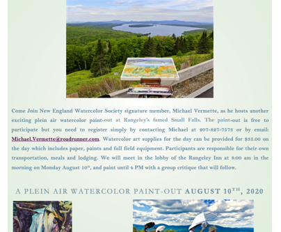 A Plein Air Watercolor Paint-Out in Rangeley