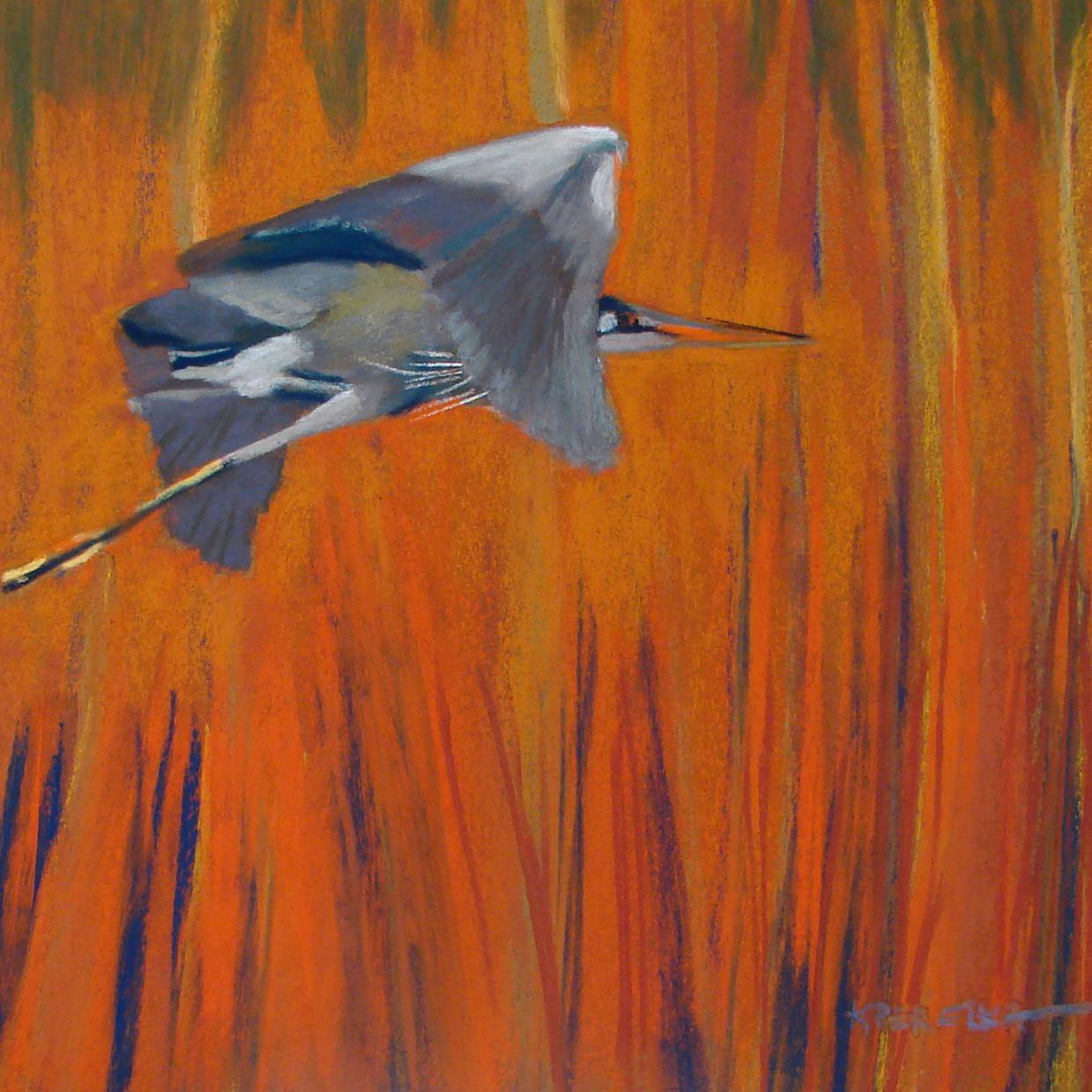 """Blue Heron"" 12x12"