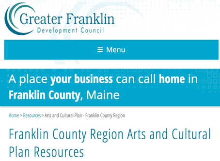 Invitation from the Franklin County Cultural Coalition