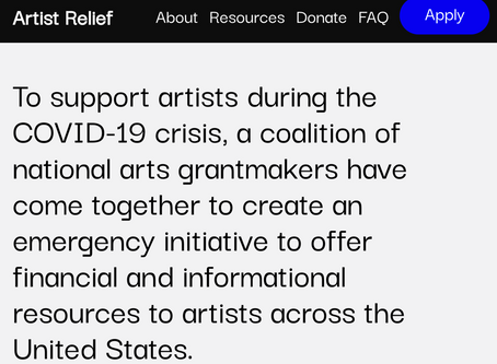 ARTIST RELIEF: Grants available