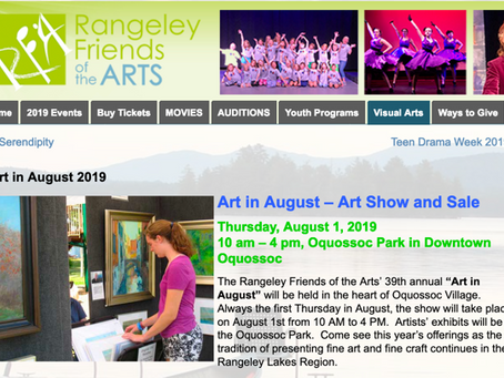 Call to Artists: ART IN AUGUST, Rangeley, ME