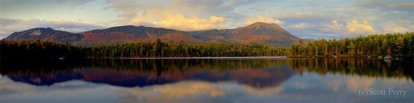 Katahdin Reflected -Baxter State Park, Maine