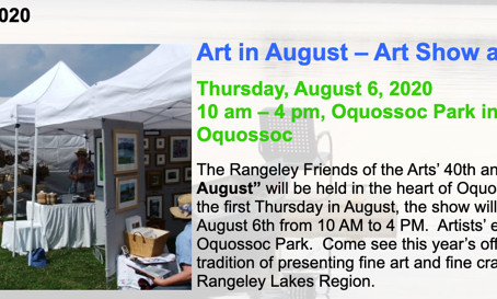 Call to Artists from Rangeley Friends of the Arts