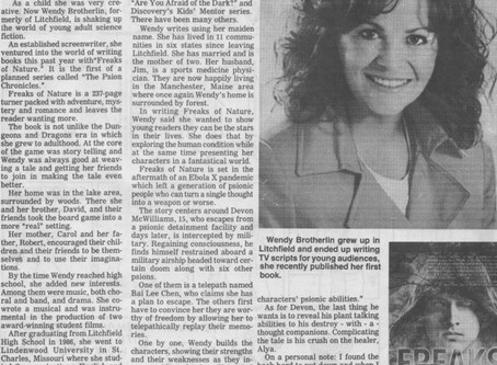Litchfield News Herald Features Home Grown Author!