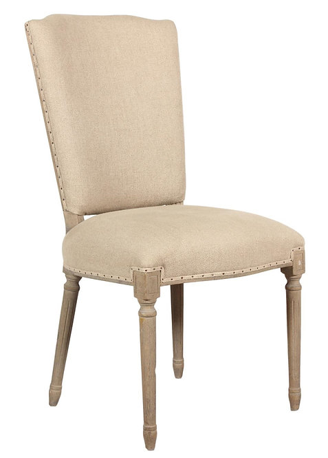 SET OF ETHAN UPHOLSTERED DINING CHAIR - NATURAL ECRU