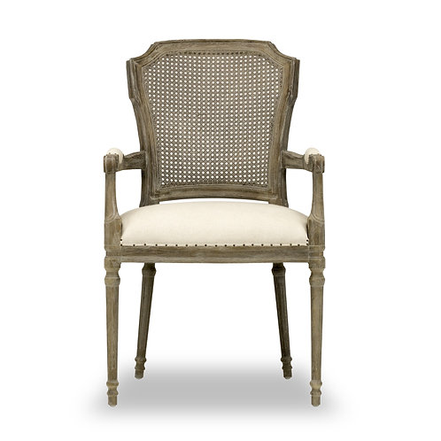 CHELSEA DINING CHAIR - CHAPS SADDLE, LIGHT LINEN