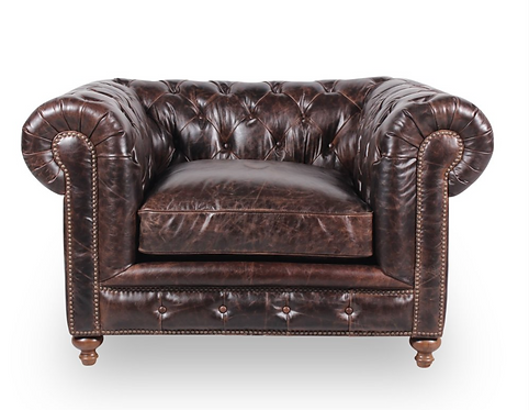 Greenwich Tufted Chair - Leather
