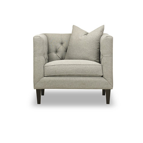 Michelle Tufted Chair - Linen, Marin Silver
