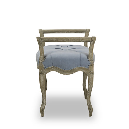 LAURIE SMALL TUFTED BENCH - DUSTY BLUE